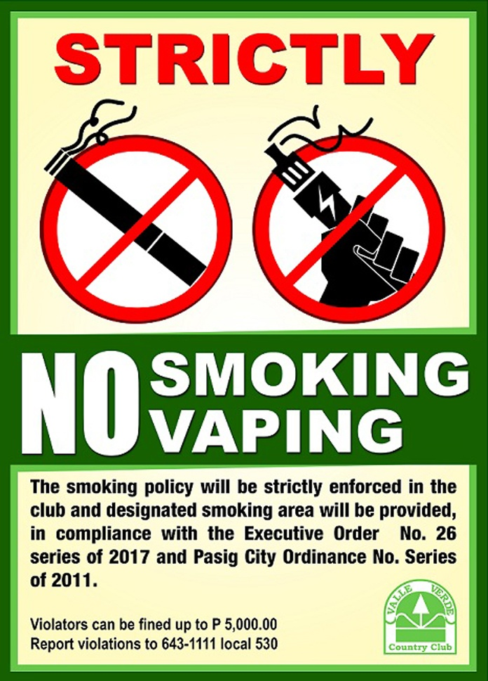 No Vaping 4